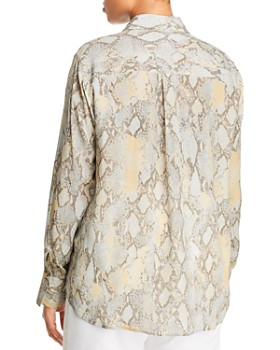 Lafayette 148 New York Plus - Scottie Snake-Print Blouse