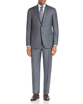 Canali - Siena Large Plaid Regular Fit Wool Suit