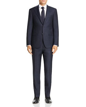 Canali - Capri Melange Solid Slim Fit Wool Suit