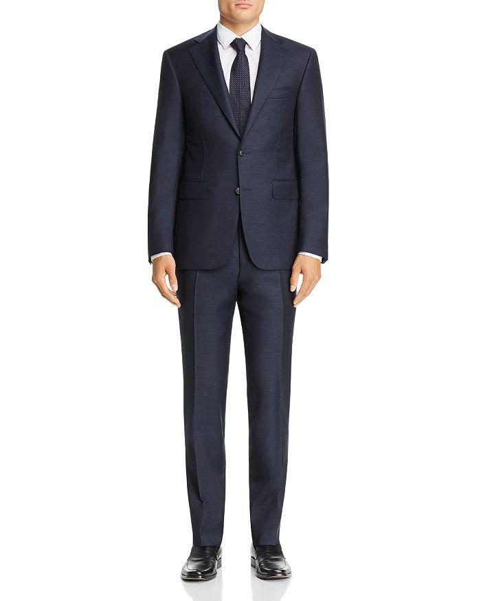Canali - Capri Mélange Twill Solid Slim Fit Suit