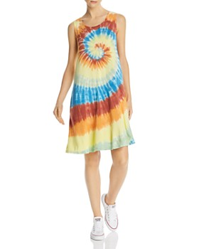 AQUA - Tie-Dye Tank Dress - 100% Exclusive