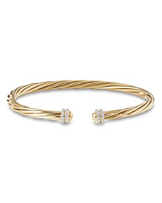 David Yurman - 18K Yellow Gold Helena Cuff Bracelet with Diamonds