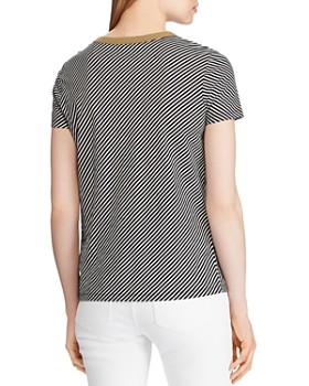 Ralph Lauren - Striped Shoulder-Button Tee