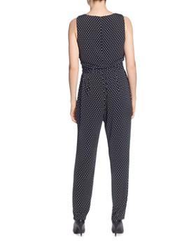 T Tahari - Belted Dot-Print Jumpsuit