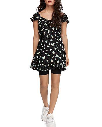 Free People - Like A Lady Printed Mini Dress