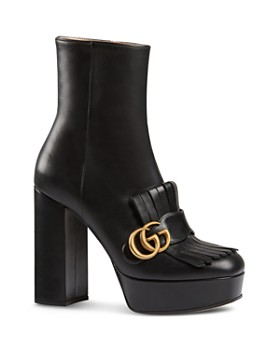 349031ae6 Gucci - Women s Marmont Fringe Platform Ankle Boots ...