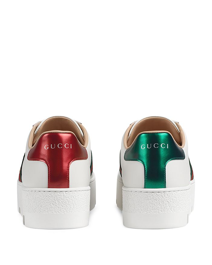 38e665c620d Gucci - Women s Ace Embroidered Platform Sneakers