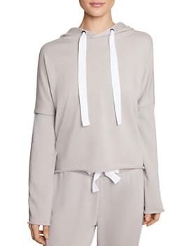 Betsey Johnson - Striped-Trim Hooded Sweatshirt
