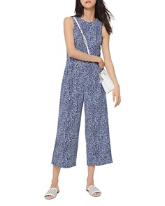 MICHAEL Michael Kors - Belted Cropped Ikat-Print Jumpsuit