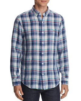 Vineyard Vines - Tucker Plaid Linen Classic Fit Button-Down Shirt