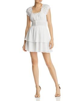 AQUA - Smocked-Waist Tiered Dress - 100% Exclusive