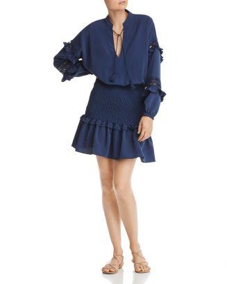 Smocked Waist Flounced Dress   100% Exclusive by Aqua