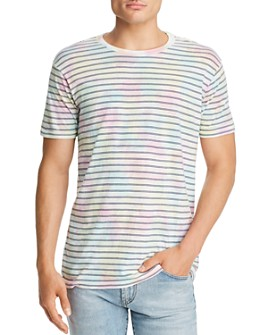 RVCA - Automatic Tie-Dyed Striped Tee