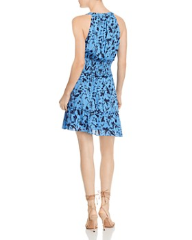 Parker - Cambria Floral-Print Smocked-Waist Silk Dress