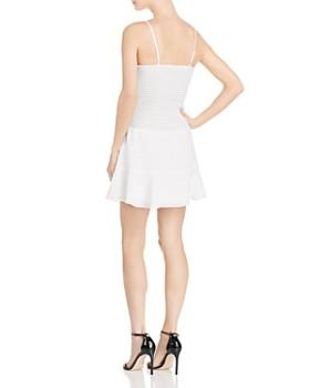 The East Order - Chance Tonal Gingham Smocked Mini Dress