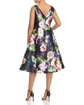 Adrianna Papell Plus - Mikado Floral-Print Dress