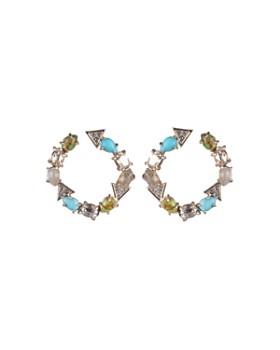 Alexis Bittar - Stone Hoop Earrings