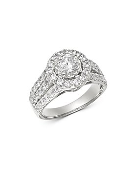 Bloomingdale's - Diamond Triple-Shank Engagement Ring in 14K White Gold, 2.0 ct. t.w. - 100% Exclusive