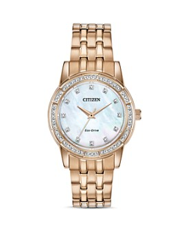Citizen - Silhouette Crystal-Embellished Rose Gold-Tone Watch, 31mm