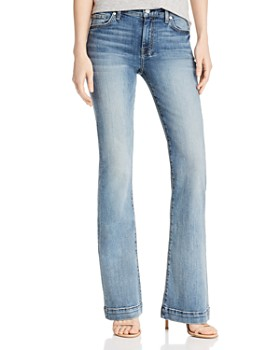 7 For All Mankind - Dojo Flared Jeans in Medium Blue