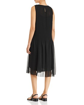 Eileen Fisher - Sleeveless Plissé Dress