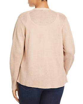 Eileen Fisher Plus - Draped Open-Front Cardigan