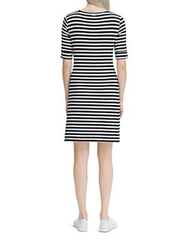 Calvin Klein - Striped Elbow-Sleeve Dress
