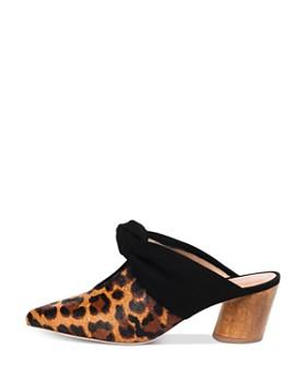 Bernardo - Women's Finley Leopard Print Knotted Mules