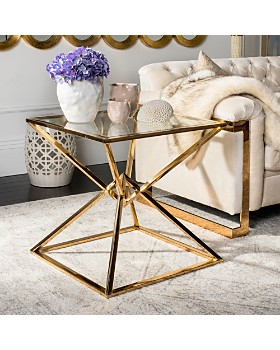 SAFAVIEH - Fiorella Glass Top End Table