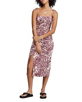 Free People - Show Stopper Printed Midi Dress
