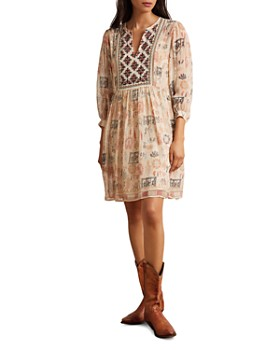 Velvet by Graham & Spencer - Tawni Embroidered-Bib Dress