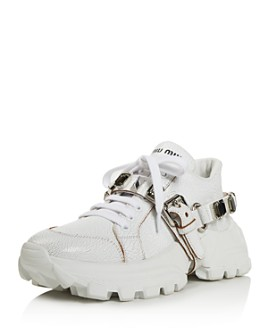 Miu Miu - Women's Monstar Crystal-Embellished Sneakers