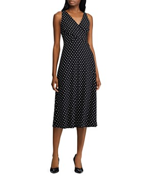 6048ba7d Ralph Lauren - Faux-Wrap Polka-Dot Dress ...