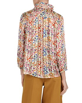 ba&sh - Room Floral Striped Blouse