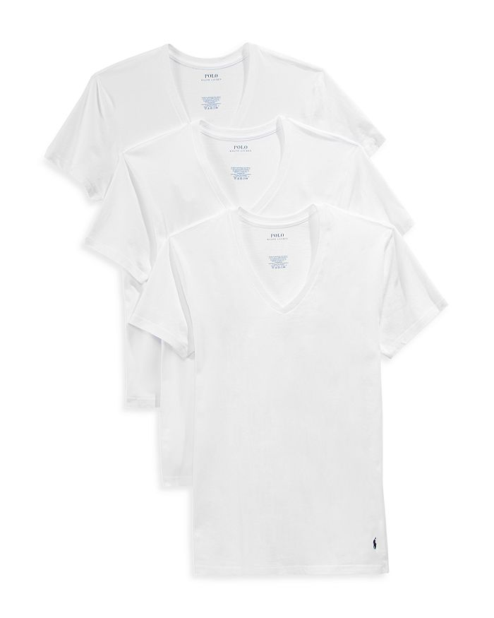 e045c058d790 Polo Ralph Lauren Slim Fit V-Neck Tee, Pack of 3 | Bloomingdale's