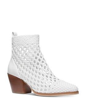 77ff646bc MICHAEL Michael Kors - Women's Augustine Woven Leather Booties ...