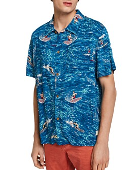 Scotch & Soda - Surfer-Print Slim Fit Hawaiian Shirt