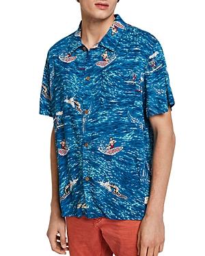 Scotch & Soda Surfer-Print Slim Fit Hawaiian Shirt