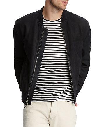 John Varvatos Collection - Suede Regular Fit Bomber Jacket