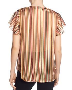 T Tahari - Metallic Striped Top