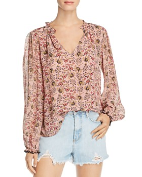 Velvet by Graham & Spencer - Mel Blouson-Sleeve Top