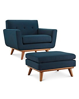 Modway - Engage Upholstered Fabric Chair & Ottoman Collection