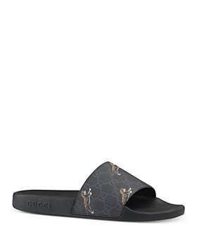 Gucci - Men's GG Supreme Tiger Slide Sandals