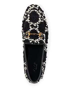 ba2386f3e7c ... Gucci - Women s Brixton Apron-Toe Tweed Loafers