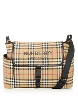 Burberry - Nylon Vintage Check Logo Diaper Bag