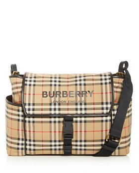 Burberry - Nylon Vintage Check Logo Diaper Bag