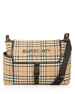 Burberry Nylon Vintage Check Logo Diaper Bag