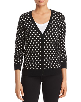 C by Bloomingdale's - Polka Dot Cashmere Cardigan - 100% Exclusive