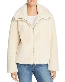 FRENCH CONNECTION - Buona Faux-Fur Jacket