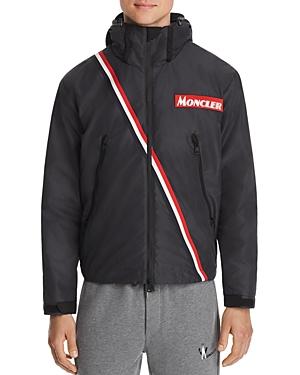 Moncler Trakehner Stripe Trimmed Down Jacket